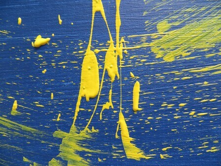 Blue and Yellow Abstract by Akader